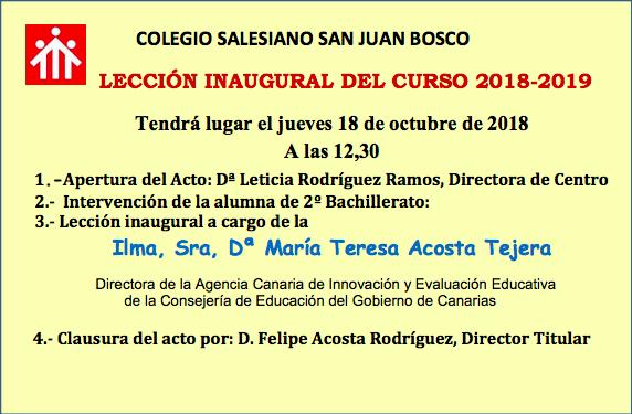 Acto Académico de Inauguración Oficial del Curso