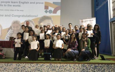 Ceremonia de entrega de certificaciones Cambridge
