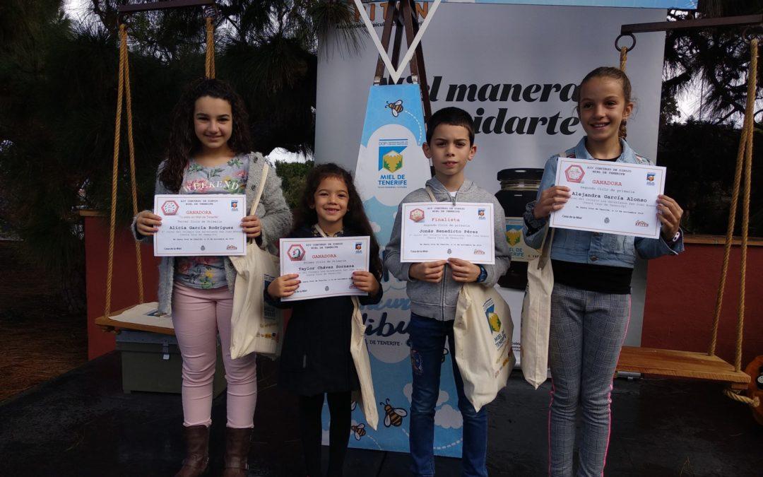 Entrega de premios delXIV Concurso de Dibujo «Miel de Tenerife»
