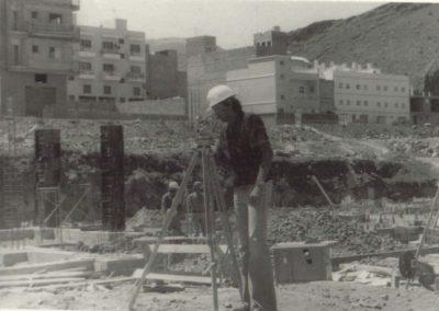Construcción del Colegio de La Cuesta 1978