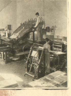 1945 Los primeros talleres en Galcerán (Imprentas)