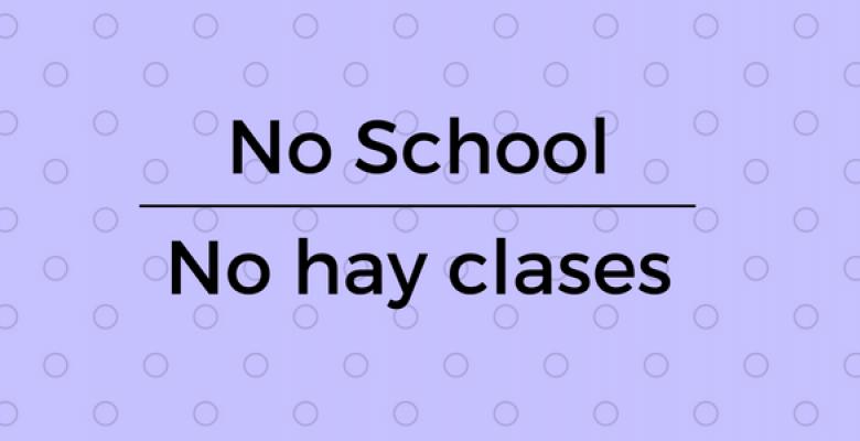 ¡Recuerda! 1 y 2 de noviembre no hay clases