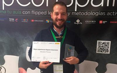 """""""Aprendo y me divierto"""" se proclama como mejor experiencia educativa en la FlipconSpain 2018"""