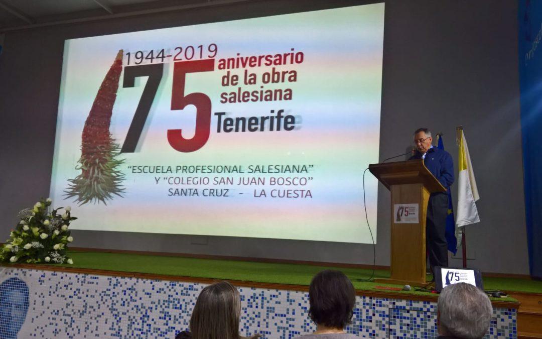 Celebración del 75 aniversario con D. Pedro Bonoso