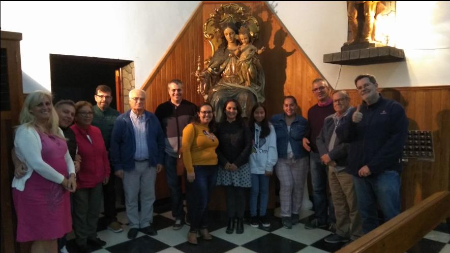 Un grupo de la Familia Salesiana de Retiro en  Valle Jiménez